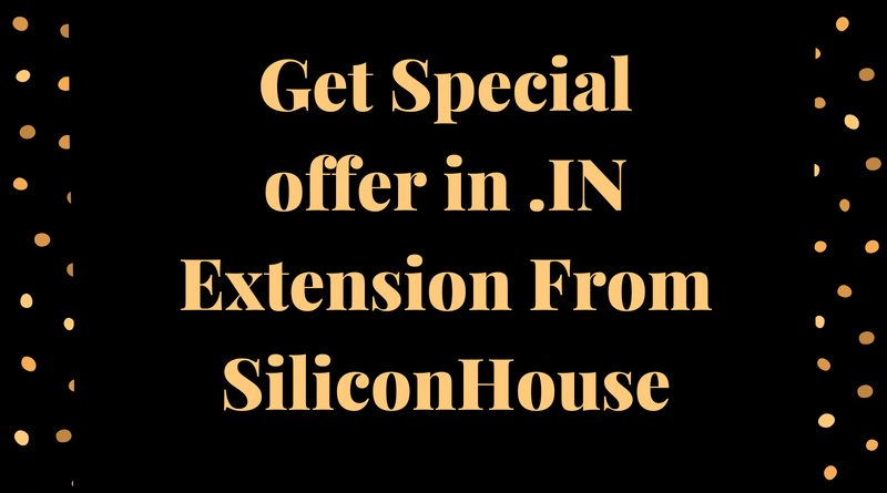 Get Special offer in .IN Extension From SiliconHouse